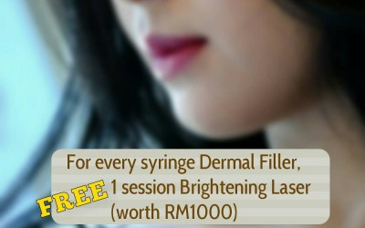 FREE RM1000 Brightening Laser for every syringe of Dermal Filler