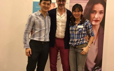 Dr. Kee Yong Seng, Dr. Michelle Lai with Dr. Franco Vercesi on Ellanse and Silhoutte Soft