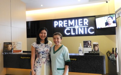 Malaysian Blogger Shirley Yu Hui Wen with Dr. Jaswine Chew on q-Switch Nd: YAG Laser treatment