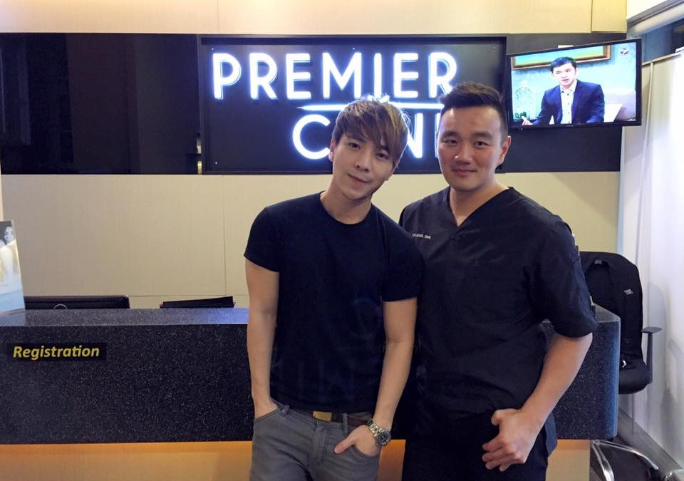 Gary Wong (Actor, Singer, Managing Director) with Dr. Nigel Ong for laser hair removal