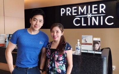 Popular Malaysian Celebrity, Nick Chung is in Premier Clinic with Dr. Jaswine Chew to get Platelet Rich Plasma treatment
