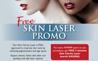 Superb Deal for Skin Clarity Laser only for a LIMITED TIME only at Premier Clinic's TTDI branch.