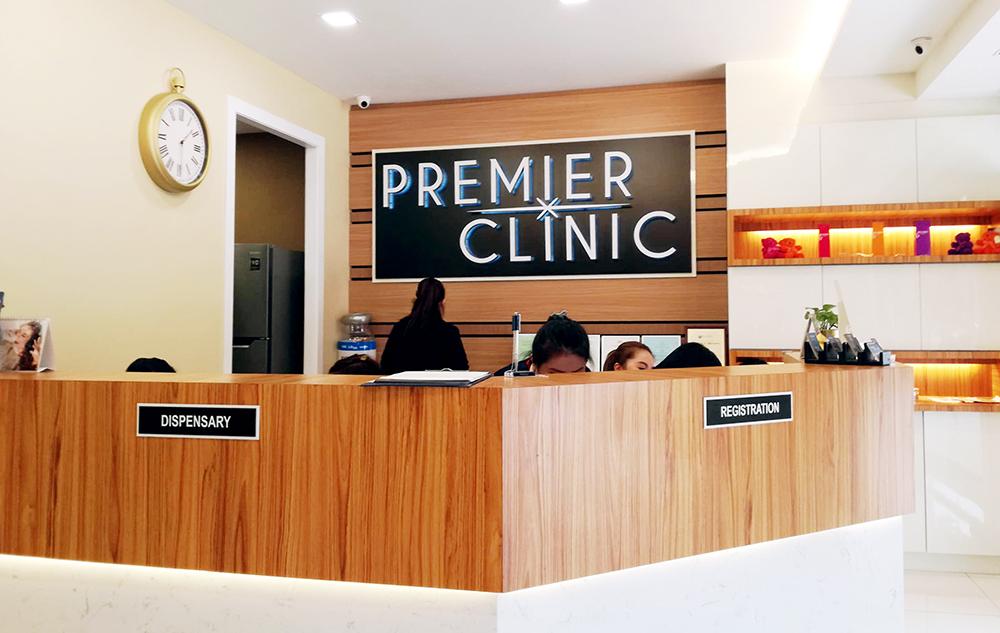 Premier Clinic Bangsar reception